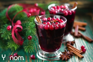 Mulled wine cranberry cocktail