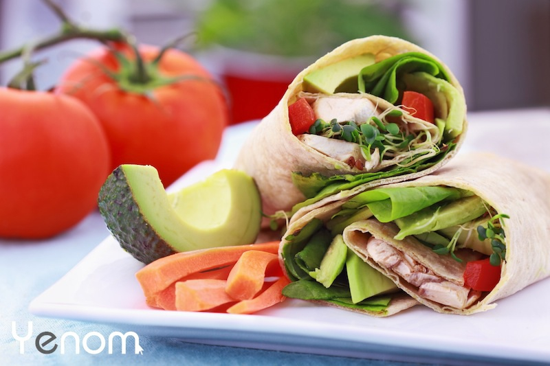 Wrap met avocado, spinazie en tomaat