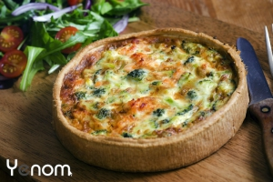 Quiche met brie en broccoli
