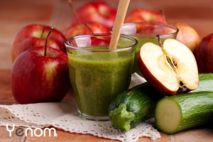 Courgette-appel smoothie